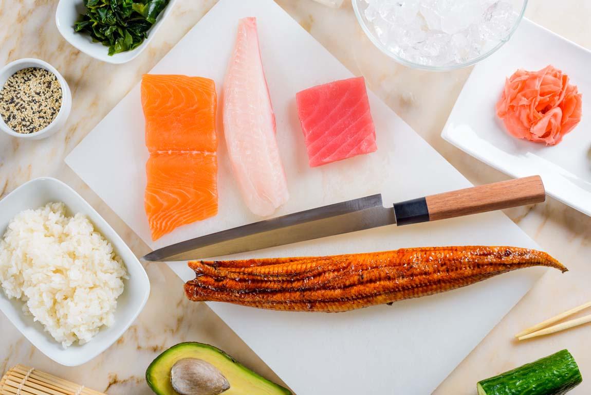 Основные ингредиенты для суши