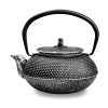 Чугунный чайник 300мл серебряный