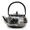 Чугунный чайник 800мл серебряный