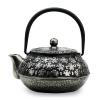 Чугунный чайник 650мл серебряный